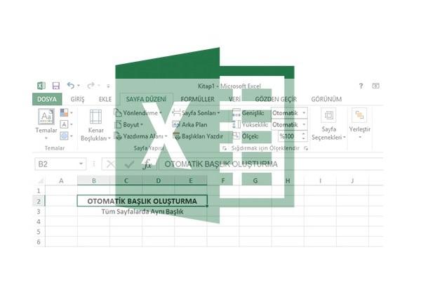 excel-sayfalara-otomatik-baslik