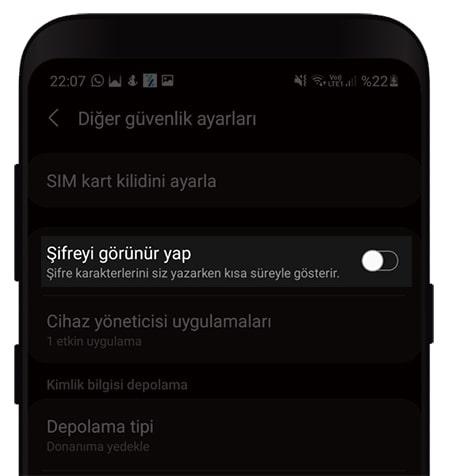 Android-Cihazlarda-Sifreyi-Gorunur-Yapma-3