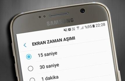 Android' te Ekran Kapanma Süresi Nasıl Değiştirilir?