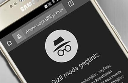 Android Cihazlarda Chrome' da Gizli Sekmeye Nasıl Geçilir?