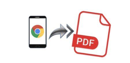 Android' de Web Sitelerini PDF Olarak Kaydetme