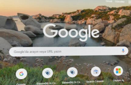 Chrome' un Arama Sayfasında Temayı Değiştirme