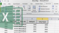 Excel' de Belirli Olan Satır ve Sütunları Dondurma