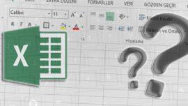 Excel' de Bilinmeyen İşinize Yarayacak iPucu