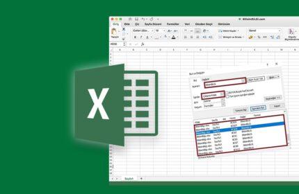 Excel Çalışma Kitabında Tüm Sayfalarda Arama Yapma