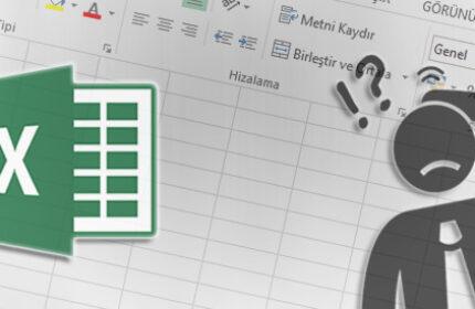 Excel' de Kaydetmeden Kapatılan Dosyayı Kurtarma ve Otomatik Kaydetme
