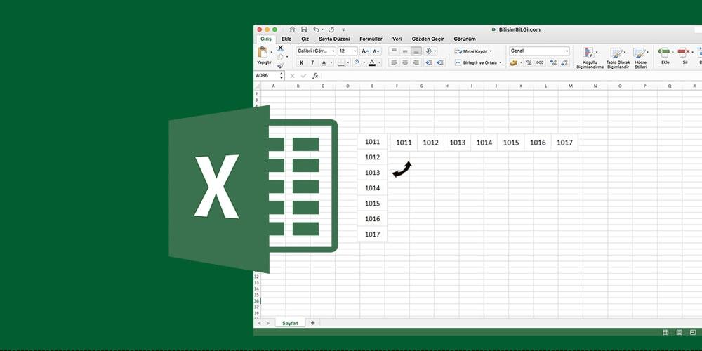 Excel-Satirlardaki-Verileri-Sutunlara-Donusturme