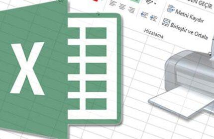 Excel' de Seçili Alanı Yazdırma