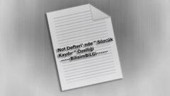 Not Defteri' nde Sözcük Kaydır Özelliği Nasıl Aktif Edilir?