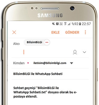 iphone whatsapp sohbet mail