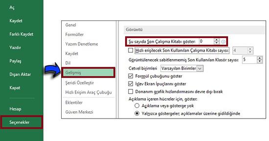 Word-Excel-Acilan-Son-Dosyalari-Gizleme-1
