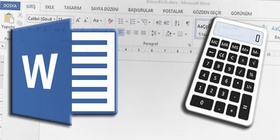 Word-Hesap-Makinesi