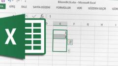 Excel' de Doldurma Tutamacı' nı Devreye Alma yada Gizleme