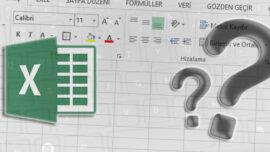 Excel' de Klavye Kullanılarak Satır ve Sütun Ekleme