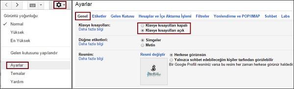 gmail-kisayollari