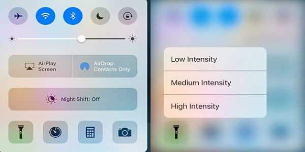 iOS-10-ile-fener-parlakligi-ayarlamasi-1