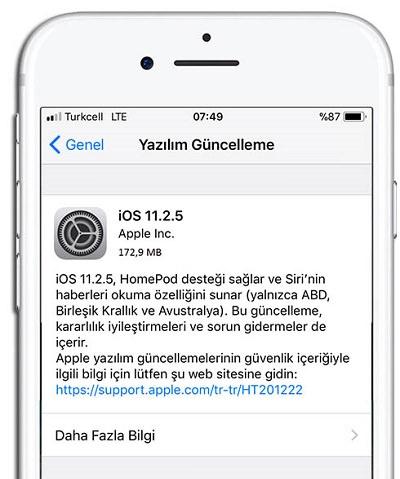 iOS-11-2-5-Guncelleme