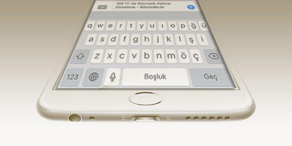 iOS-11-Otomatik-Kelime-Duzeltme-Kapatma