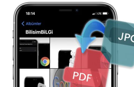 iPhone' da Fotoğrafları PDF' e Dönüştürme