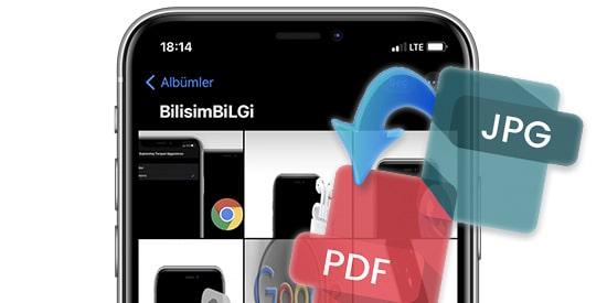 iPhone-Fotograflar-PDF-Donusturme
