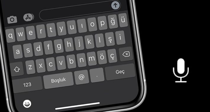 iPhone Klavyesinde Mikrofon Düğmesini Bulamıyorum