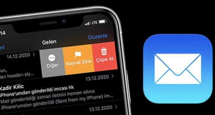 iPhone Mail' de E-postaları Silmek için Kaydırın