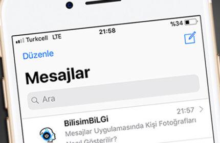 iPhone Mesajlar Uygulamasında Kişi Fotoğraflarını Gösterme