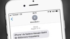iPhone' da Mesajın Sadece Belirli Bir Bölümünü Kopyalama