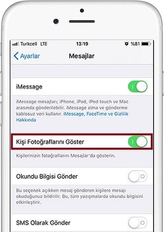 iPhone-Mesajlar Uygulamasinda-Kisi-Fotograflarini- Gosterme-1