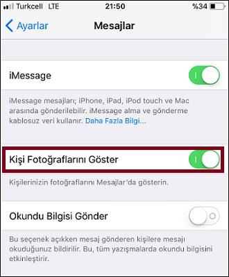 iPhone-Mesajlar