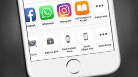 iPhone' da Paylaşım Menüsünde Yer Alan Sembolleri Düzenleme