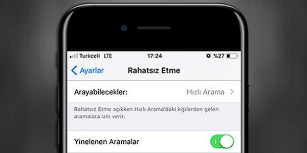 iPhone-Rahatsız-Etme-Yinelenen-Aramalar