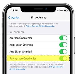 iOS 14' te Paylaşım Sayfasından Kişi Önerilerini Kaldırma-3