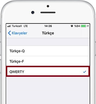 iPhone-Turkce QWERTY-1