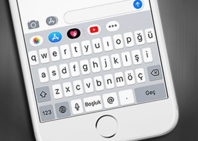 iPhone-Turkce QWERTY-Klavye
