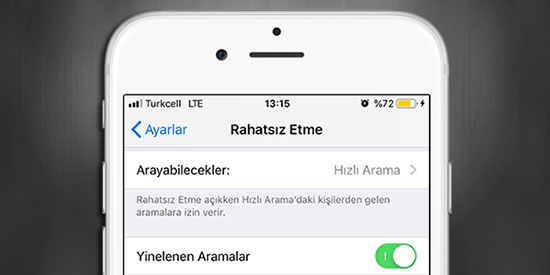 iPhone-Yinelenen-Aramalar