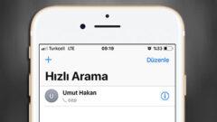 iPhone' da Hızlı Aramaya Kişi Nasıl Eklenir?