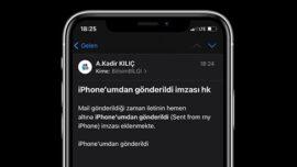 iPhone'umdan Gönderildi Yazısını Değiştirme