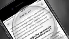 Safari' de Site İçerisinde Arama Nasıl Yapılmakta? (iPhone – iPad)